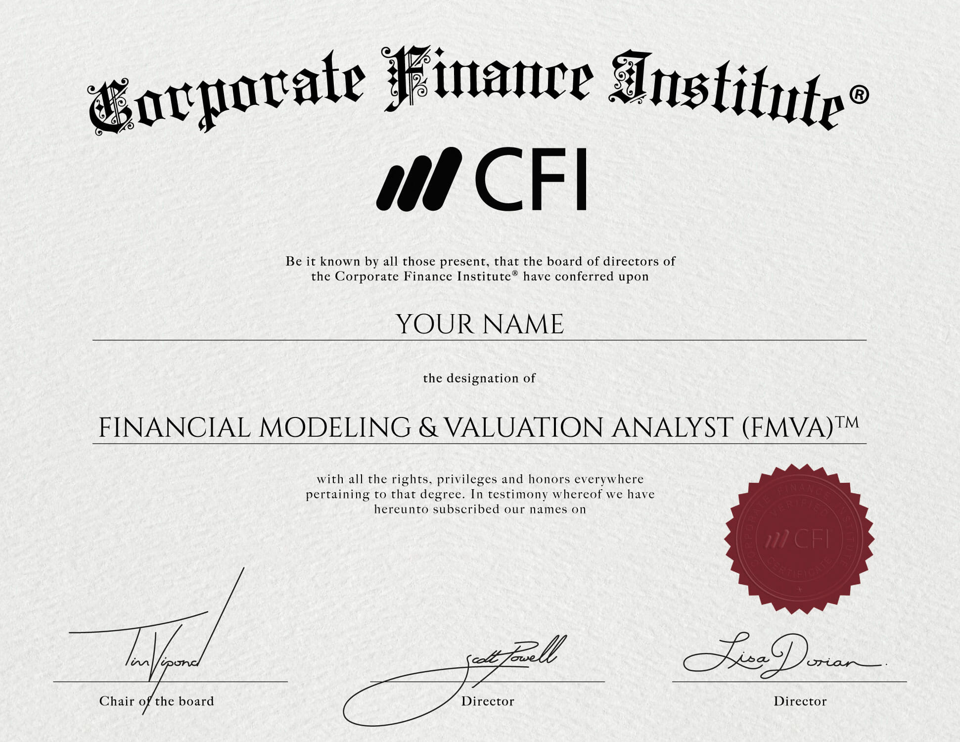 Financial Modeling Certification Overview Of The Fmva